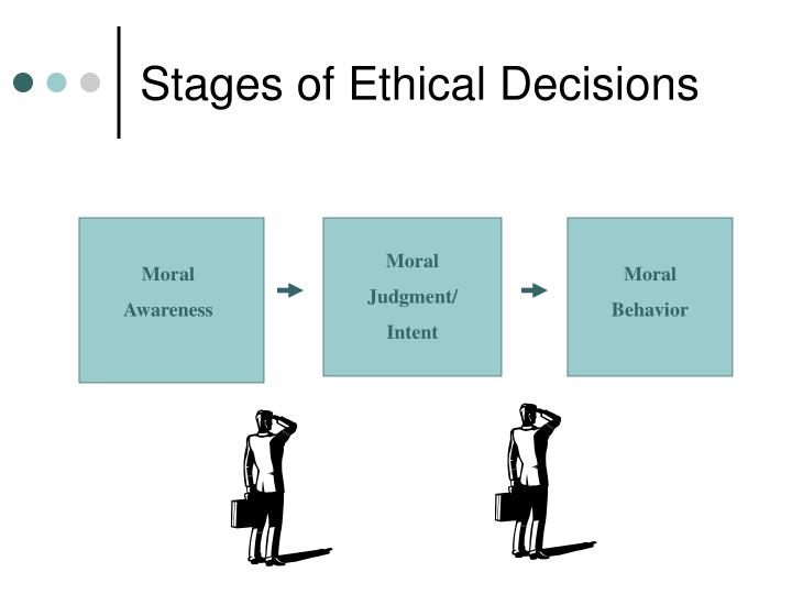 Stages of ethical decisions