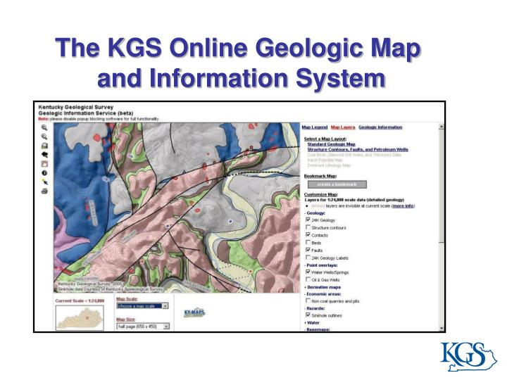 The KGS Online Geologic Map
