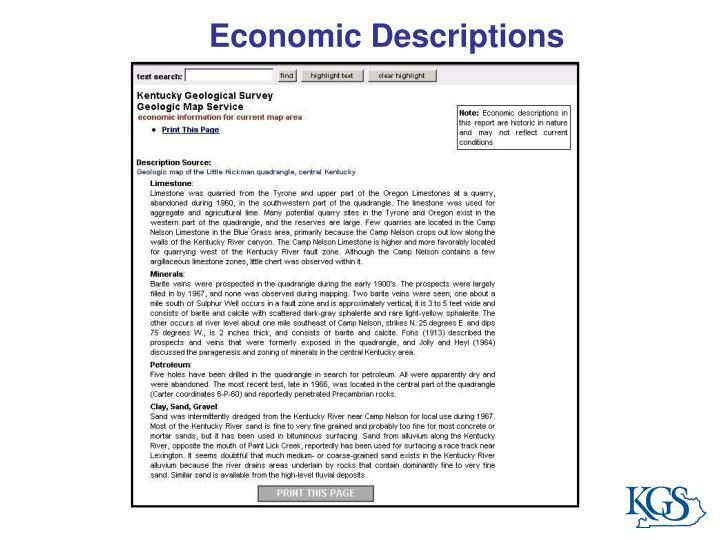 Economic Descriptions