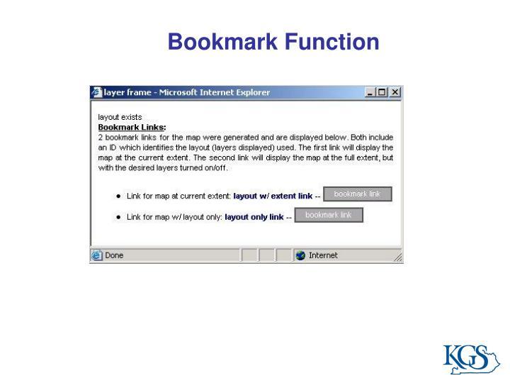 Bookmark Function