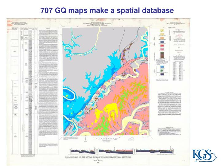 707 GQ maps make a spatial database