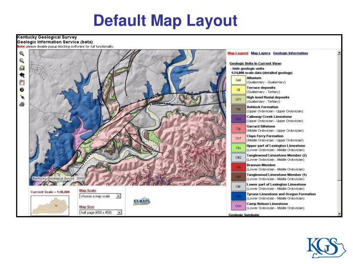 Default Map Layout