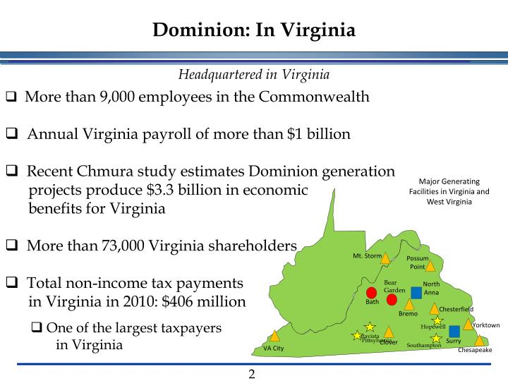 Dominion: In Virginia