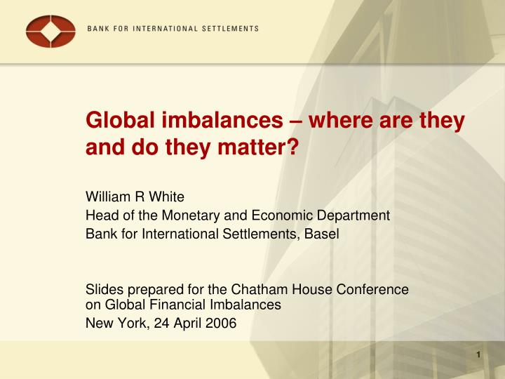 global imbalances where are they and do they matter