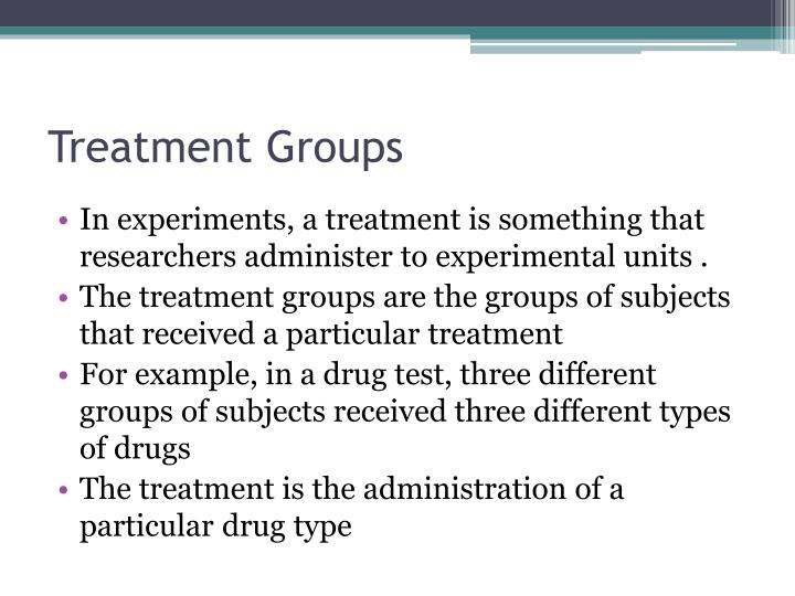 Treatment groups