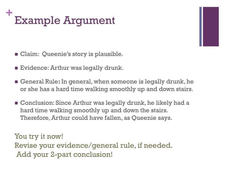 Example Argument