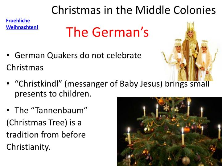 Christmas in the Middle Colonies