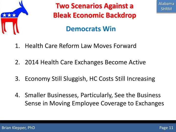 Two Scenarios Against a