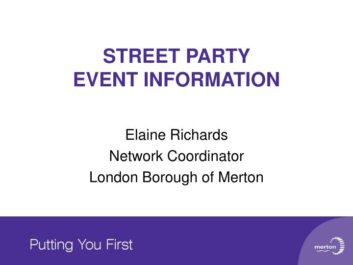 Street party event information