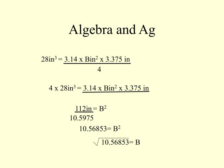 Algebra and Ag