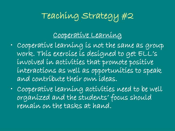 Teaching Strategy #2