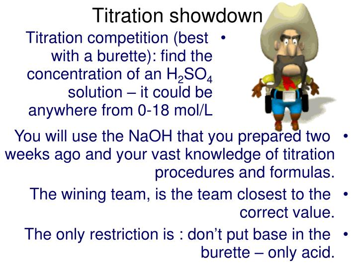 Titration showdown