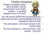 titration showdown