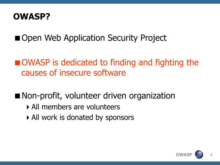 OWASP?
