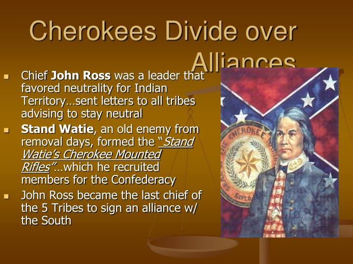 Cherokees Divide over Alliances