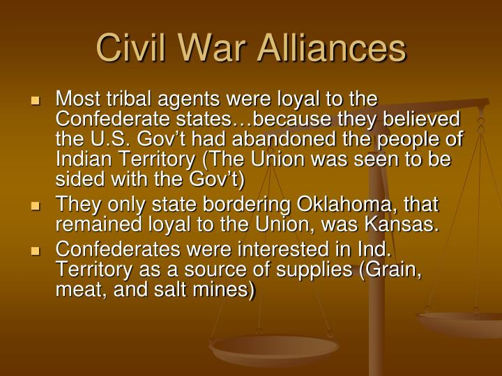 Civil War Alliances