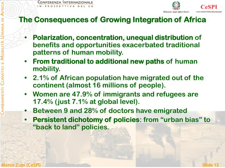 The Consequences of Growing Integration of Africa