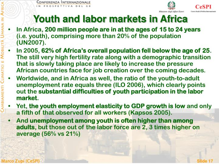 Youth and labor markets in Africa