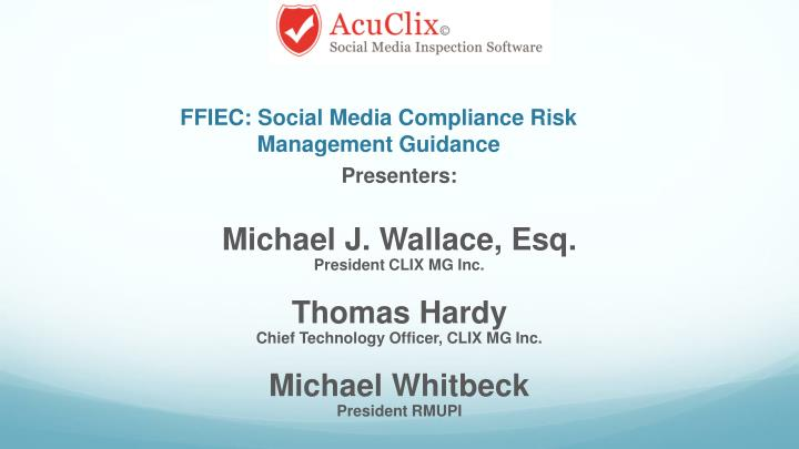 FFIEC: Social Media Compliance Risk