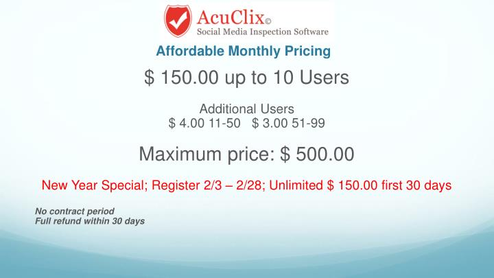 Affordable Monthly Pricing