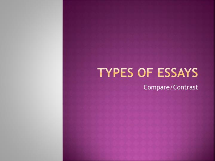 Powerpoint on writing a comparecontrast essay