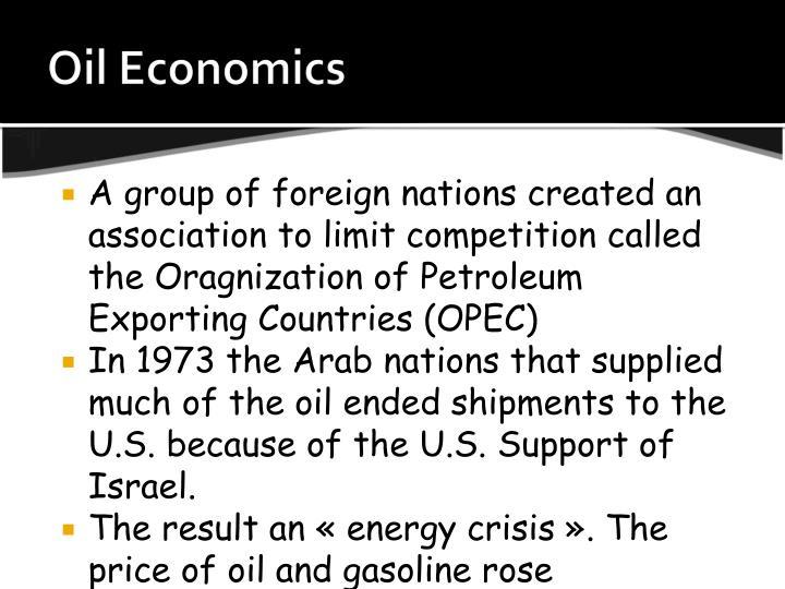 Oil Economics