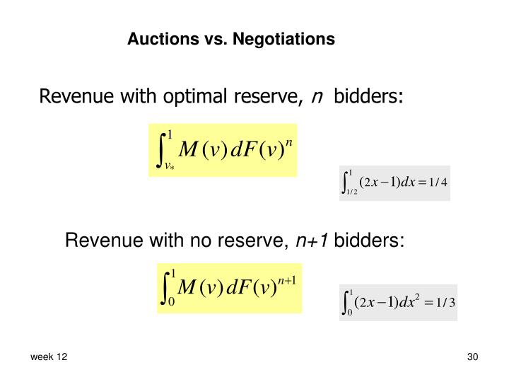 Auctions vs. Negotiations