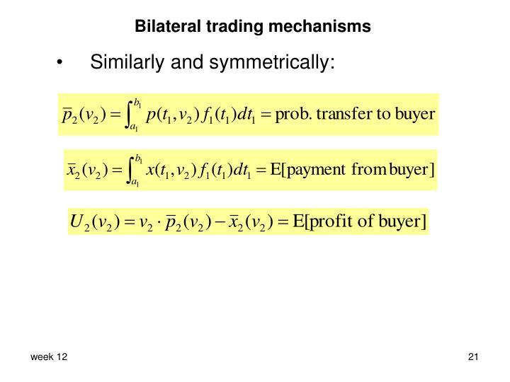 Bilateral trading mechanisms