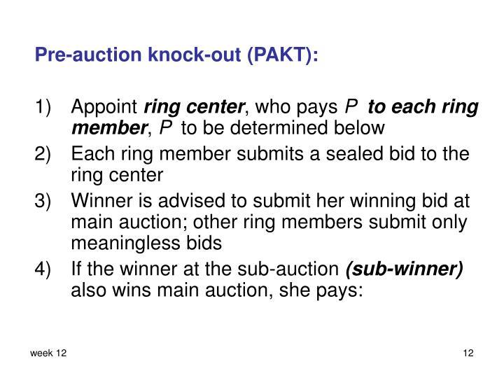 Pre-auction knock-out (PAKT):