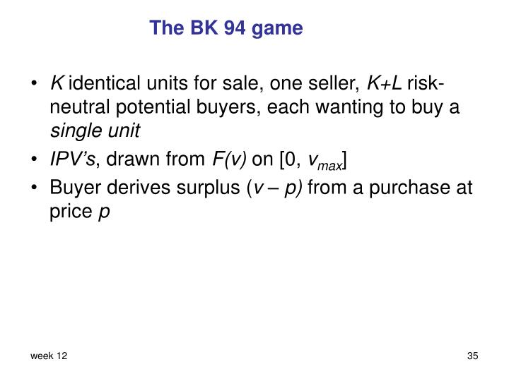 The BK 94 game