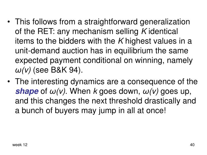 This follows from a straightforward generalization of the RET: any mechanism selling
