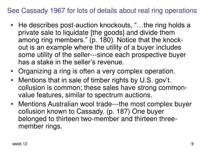 See Cassady 1967 for lots of details about real ring operations