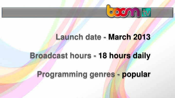 Launch date -