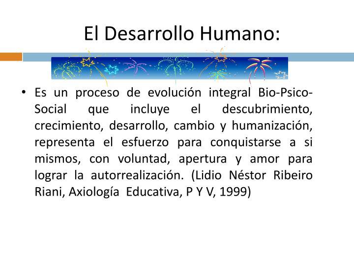El Desarrollo Humano: