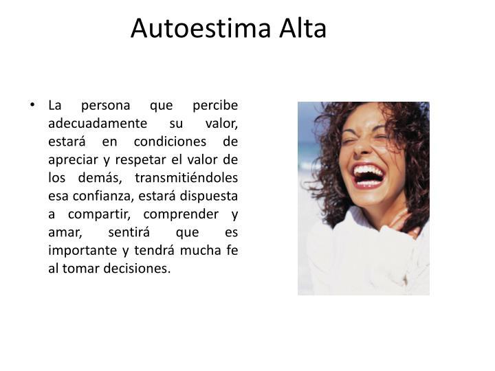 Autoestima Alta