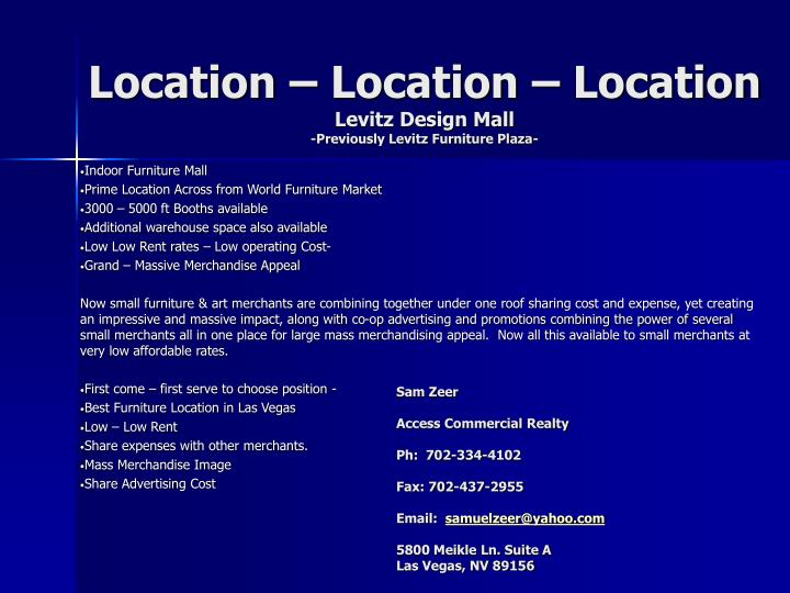 Location U2013 Location U2013 LocationLevitz Design Mall Previously Levitz Furniture  ...