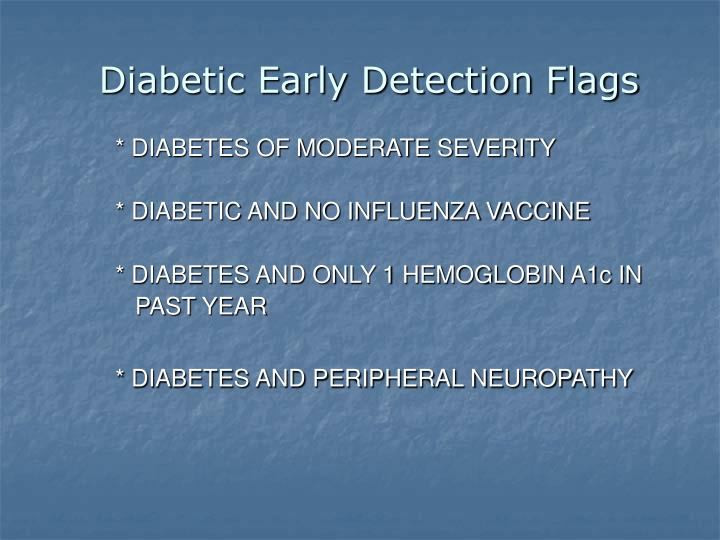 Diabetic Early Detection Flags
