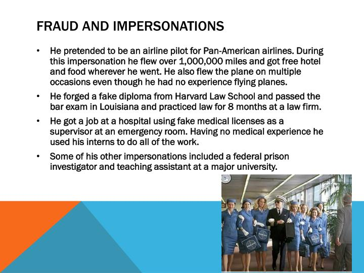 Fraud and impersonations