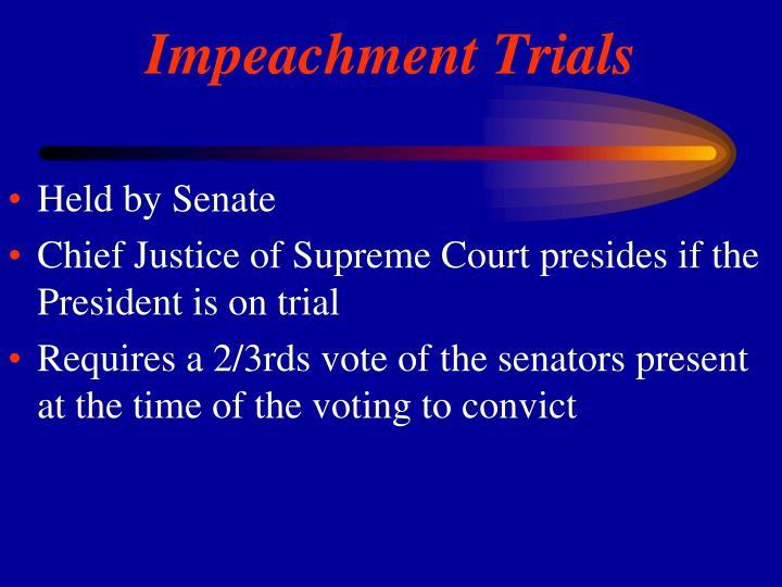 Held by Senate