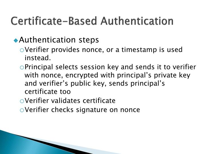 Certificate-Based Authentication