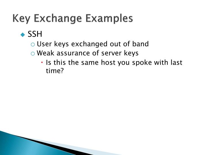 Key Exchange Examples