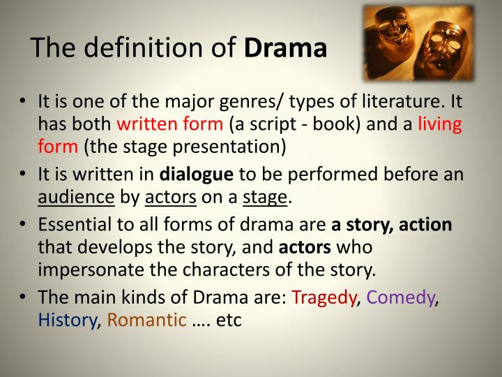 an introduction to the problem of genre in drama Classical drama and theatre i introduction: an overview of classical greek drama the evidence for this genre of drama is scant.