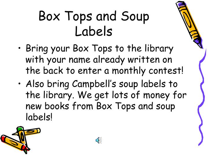 Box Tops and Soup Labels