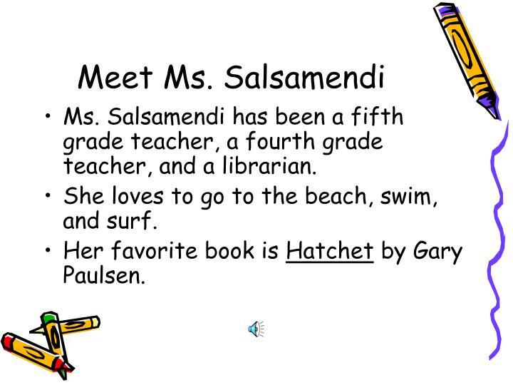 Meet Ms. Salsamendi
