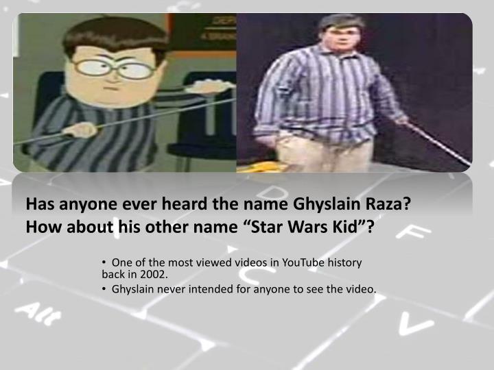 Has anyone ever heard the name
