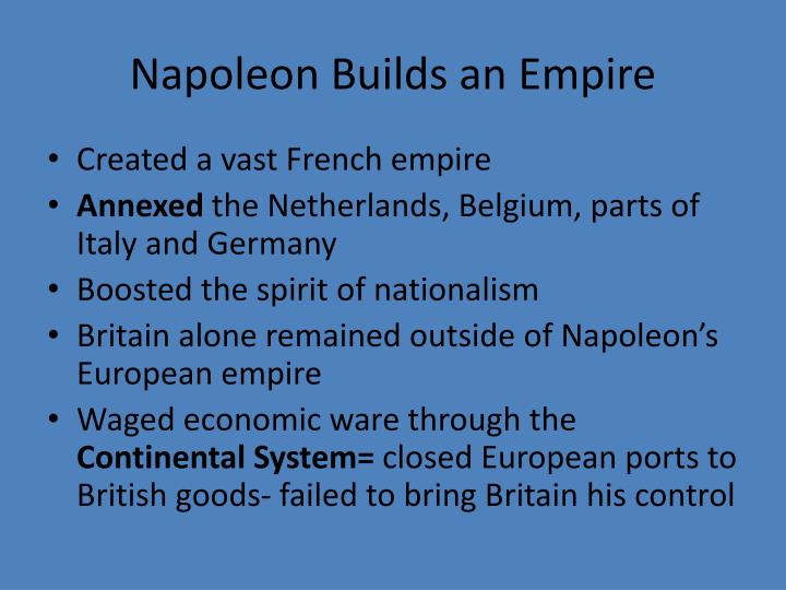 Napoleon Builds an Empire