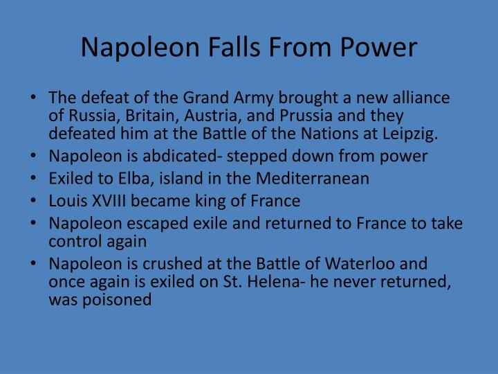 Napoleon Falls From Power