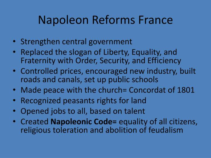 Napoleon Reforms France