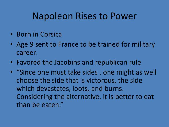 Napoleon Rises to Power