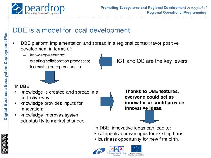 DBE is a model for local development